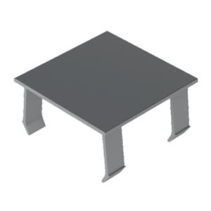 Zaślepka aluminiowa 45x45